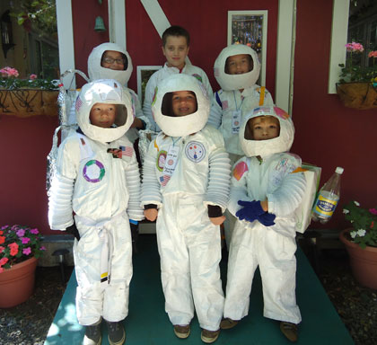 Campers made their own spacesuits, helmets, backpacks,