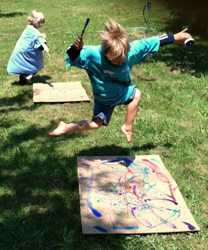 Campers, inspired by the modern artist Jackson Pollock,
