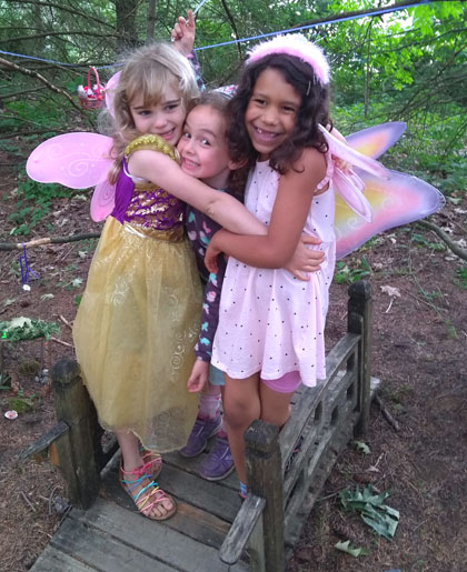 Three friends dressed up in their fairy finest for the